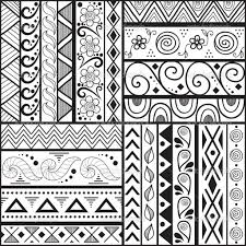 easy patterns to draw on paper for kids