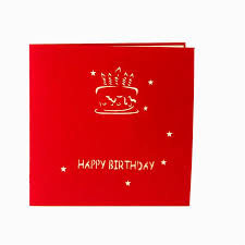 handmade kirigami u0026 origami 3d pop up birthday cards with candle