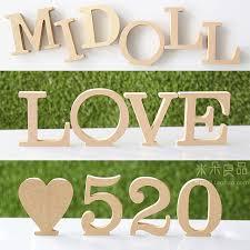 Home Letters Decoration 10cm Wedding Decoration Adornment Home Decoration Items Wood