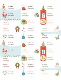 gift tag labels christmas spirit design 30 per page works with
