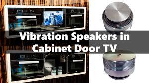 vibration resonance sonar hidden speaker in kitchen cabinet door