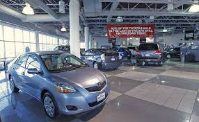 toyota car showroom toyota look to car rentals fleet deliveries for boost amid slowing