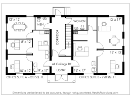 floor plan of a commercial building the red cottage floor
