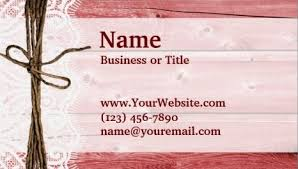 Wood Texture Business Card Rustic Red Barn Wood Country Style Knotted Ribbon Business