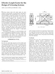 effective length factor for the design of x bracing systems pdf