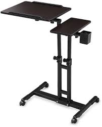 Adjustable Height Computer Desks by Adjustable Computer Desk Height Rolling Laptop Carts Portable