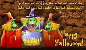happy halloween quotes what in english
