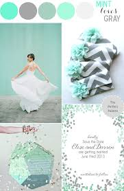 mint loves gray wedding color palette my style pinterest