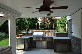 kitchen amazing outdoor kitchen design plans with grey tile