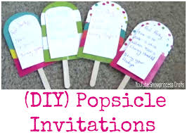 Diy Invitations Diy Popsicle Invitations Youtube