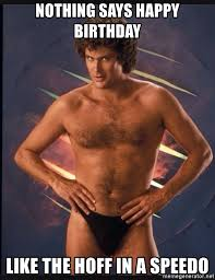 Speedo Meme - nothing says happy birthday like the hoff in a speedo hasselhoff
