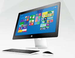 ordinateur de bureau hp tout en un pc tout en un hp hp pc tout en un 34a090nf blanc 34 8 go windows