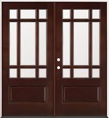 32 Exterior Doors 9 Lite Craftsman Mahogany Prehung Wood Door Unit 32