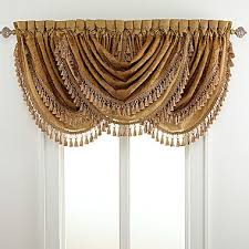 Custom Drapes Jcpenney Chris Madden Draperies Bethany Waterfall Valance Jcpenney