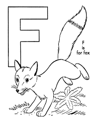free alphabet coloring pages fox alphabet coloring pages of