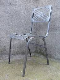 Aluminum Outdoor Chairs French Aluminum Outdoor Chair By Slavik For Galerie Alumine 1980s