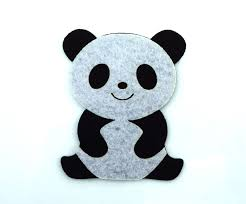 panda diy applique embroidered sew iron on patch you can get