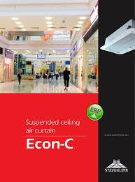 suspended ceiling air curtain econ c stavoklima pdf