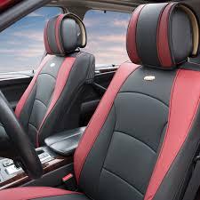 lexus visa pu car suv van pu leather seat cushion covers front buckets 5 colors