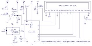digital tachometer using arduino plus motor speed control circuit