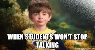 Pyjama Kid Meme - when students won t stop talking pajamas kid meme generator