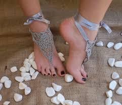 gray wedding shoes bridal wedding shoes gray silver crochetwedding barefoot