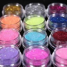 amazon com 12 color nail art dust glitter powder diy decoration