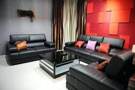 Black Leather Sofa Interior Design Living Room Leather Furniture Ideas Srjccs Club