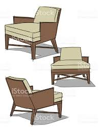modern classic armchair drawing illustration stock vector art