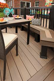 timbertech deck legacy collection in pecan with eclectic style
