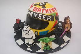 motorcycle helmet cake with star wars characters u2013 beautiful