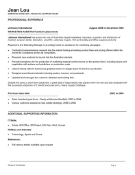 Example Of Australian Resume Assistant Resume