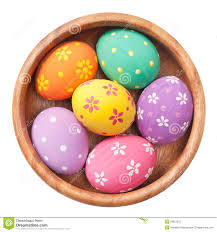 wooden easter eggs easter eggs in wooden bowl stock photography image 29921212