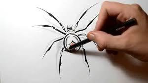 draw a black widow spider tribal tattoo youtube