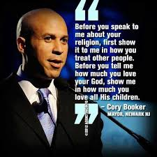 Cory Booker Meme - cory booker before you speak to me about your religion first show