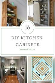 diy kitchen cabinets mdf 16 diy kitchen cabinet plans free blueprints mymydiy