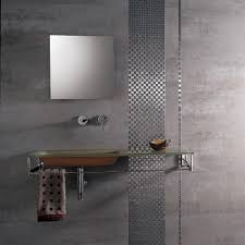 Gray Tile Bathroom Ideas Porcelanosa 26 In X 17 In Ferroker Aluminio Porcelain Floor And