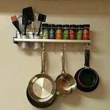 kitchen wall pot pan rack plumeet 5 in 1 wall mounted hanging