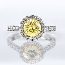 fancy yellow diamond engagement rings fancy yellow diamond ring 1 39 carat vvs2