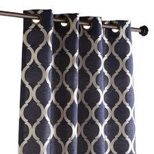 Moorish Tile Curtains Tile Curtain In Indigo