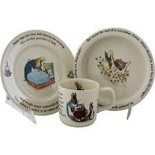 wedgwood rabbit nursery set vintage beatrix potter rabbit nursery set by wedgwood made
