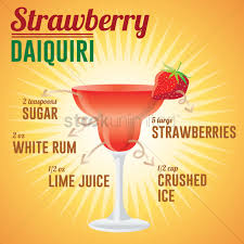 strawberry margarita cartoon strawberry daiquiri drink wallpaper vector image 1585587