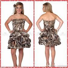 amazing strapless ball gown camo short wedding dresses 2015 custom