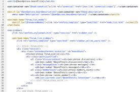 html templates xenforo