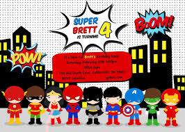 Birthday Party Invitation Card Superhero Birthday Party Invitations Card Free Invitations Ideas