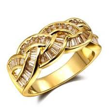 aliexpress buy wedding gifts18k gold plated wide find more rings information about luxury 18k real gold platinum