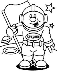 astronaut coloring crayola cut face kids