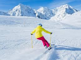 skiing skier winter sport woman skiing downhill u2014 stock photo