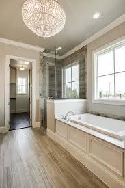 light gray wash wood like bathroom floors transitional bathroom