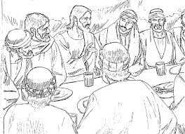 the last supper coloring page coloring home